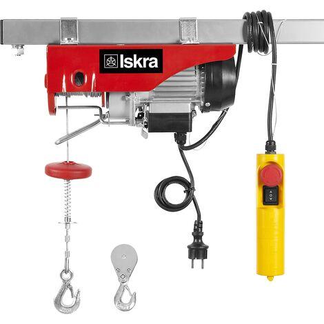 Paranco elettrico con carrucola 125-250kg 6-12m ISKRA EV-125-250 500W