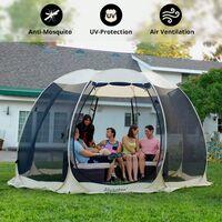 Alvantor Tente de Jardin, Moustiquaire Tonnelle de Réception pour 8-10 Personnes, Pliable Pavillon Tente d'extérieur, Protection UV, pour Fête Camping Jardin Plage