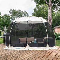 Alvantor Tente de Jardin, Moustiquaire Tonnelle de Réception pour 12-15 Personnes, Pliable Pavillon Tente d'extérieur, Protection UV, pour Fête Camping Jardin Plage