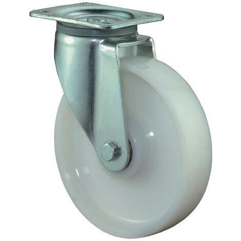 BS Rollen Roulette pivotante pour charge lourde D. de la roue 150 mm cap. charge 700 kg plastique plaque L135xl110 mm