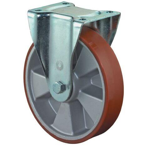 BS Rollen Roulette fixe de charge lourde L.610 l.90 150 D. de la roue 150 mm cap. charge 550 kg polyuréthane coulé 135 mm 110 mm
