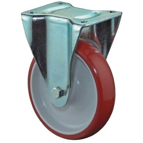 BS Rollen Roulette fixe A30 D. de la roue 150 mm cap. charge 200 kg polyuréthane moulé plaque L135xl110 mm