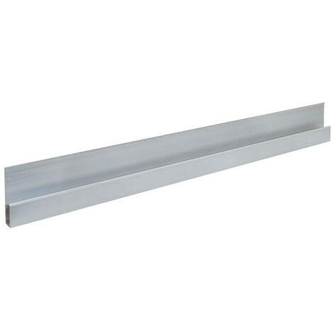 No-Name-Produkt Règle à lisser en alu forme h longueur 1200 mm avec bourrelet de renforcement aluminium