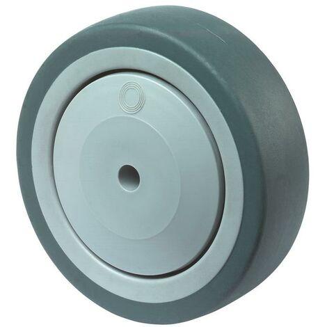 BS Rollen Roue de rechange D. de la roue 150 mm cap. charge 100 kg caoutchouc gris D. d'axe 10 mm longueur du moyeu 38 mm