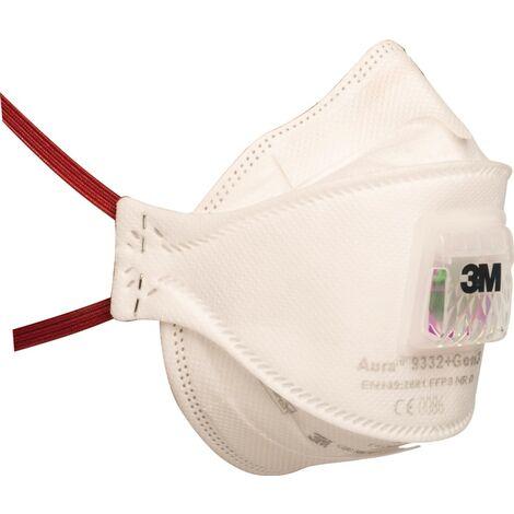 3M Masque de protection respiratoire 9332+FFP3+BV