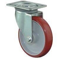 BS Rollen Rouleau de renvoi D. de la roue 150 mm cap. charge 240 kg polyuréthane plaque L135xl110mm couleur rouleau rouge