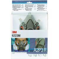 3M Set demi-masques de protect. Respirat. 6223 – SET – A2P3R EN 140 avec filtre M