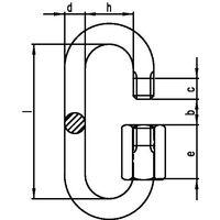 kleinsorge Maillon d'attache rapide taille 4 H. intérieure 33 mm l. d'ouv. 5,5 mm galvanisé