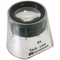 SCHWEIZER Loupe à pied Tech-Line agrandissement 8x Fixe D. de lentille 30 mm