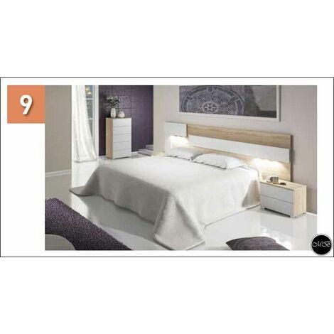 Cabezal con LEDS color Blanco y Cambrian, Cabecero Cama 210 cms ref-22