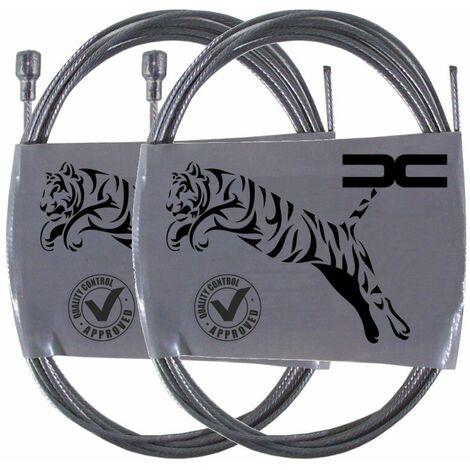 2x Cable souple acier 6x11mm 1.5mm 0.8m universel frein avant