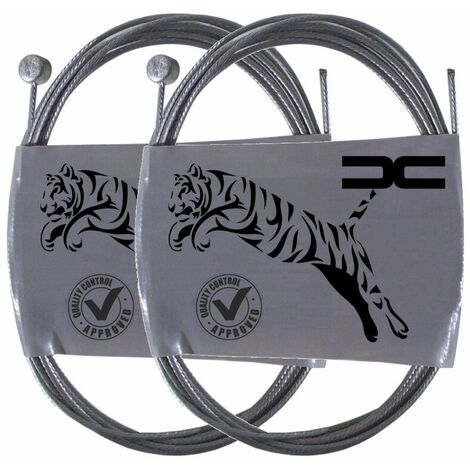 2x Cable souple acier 8x8.5mm 1.8mm 1.8m universel frein embrayage
