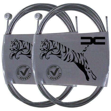 2x Cable souple acier 8x8.5mm 1.5mm 2.25m universel frein embrayage