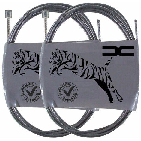 2x Cable souple acier 4x4mm 1.2mm 2m universel dérailleur