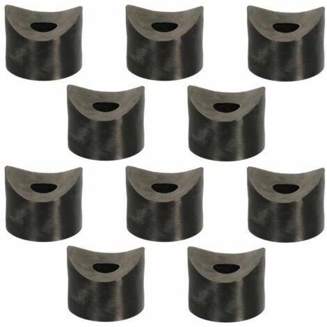 10x entretoise plastique 4mm M8 concave Ø25mm noir cale tube axe rondelle
