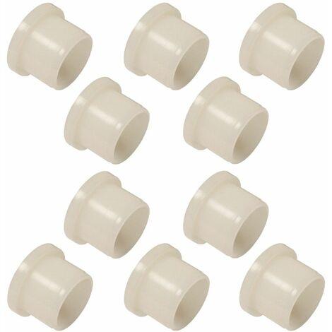10x Coussinet entretoise épaulée 6 x 8 x 10 x 10 x 2mm plastique nylon 6.6 vis rondelle collerette roue roulement sport