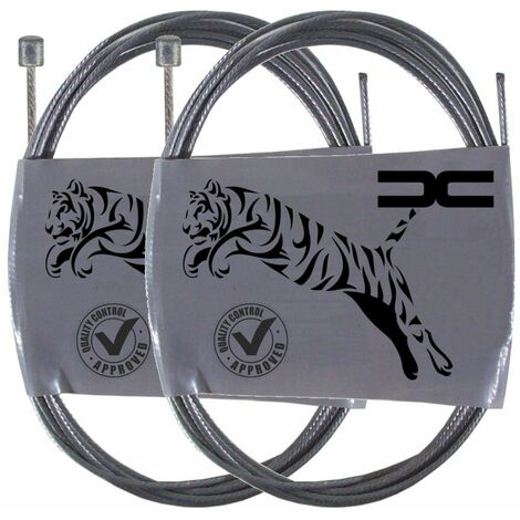 2x Cable souple acier 3x3mm 1.2mm 2.5m universel gaz accélérateur