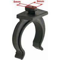 10x clip à baïonnette pour plinthe meuble tube pied cuisine salle bain piétement