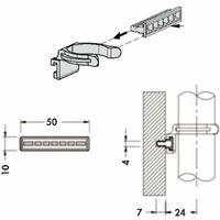 10x Clip de plinthe à queue de sapin Ø 28 mm pied de meuble cuisine salle de bain plastique noir