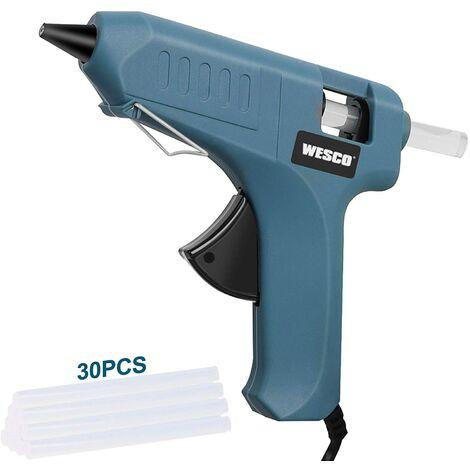 Pistolet à Colle Chaude, WESCO 40W avec 30 Bâtons (30PCS 150MM), Chauffrage Rapide, y compris un sac à outils, Anti écoulement pour Réparation, Artisanat, DIY, Maison, Bricolage/WS5801