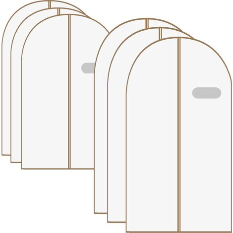 Breathable Clothes Covers - Pack of 6 White | M&W - White