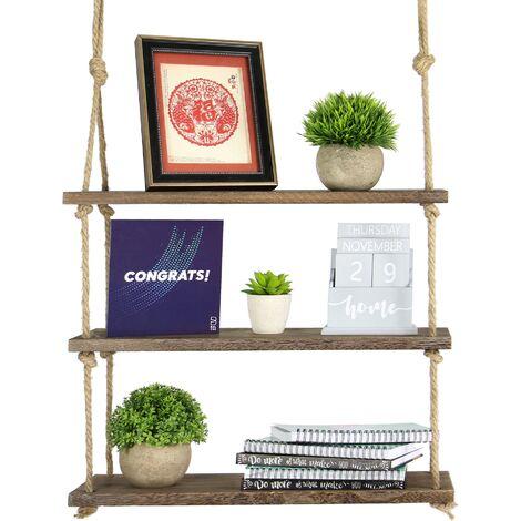 Wooden Hanging Shelf   M&W 3 Tier