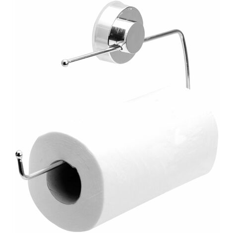 Suction Cup Kitchen Roll Holder   M&W - Silver