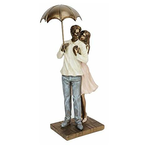 Rainy Day Collection Resin Figurine - Couple Standing 25.5cm