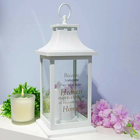 Thoughts of You White Memorial Lantern - Home