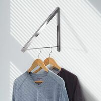 Wall Mounted Folding Clothes Hanger Single | M&W - Silver