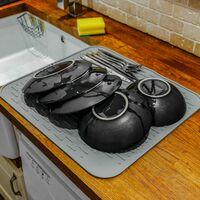 Silicone Dish Draining Mat Grey | M&W - Grey