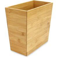 Bamboo Waste Paper Bin | M&W - Brown