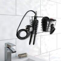 Hair Dryer & Straightener Holder   Pukkr Black - Black