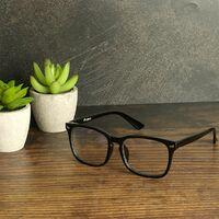 Blue Light Screen Filter Glasses   Pukkr - Black