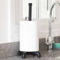 Iron Pipe Paper Towel Holder | M&W - Black