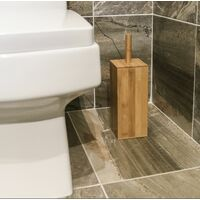 Bamboo Toilet Brush & Holder | M&W Square - Brown