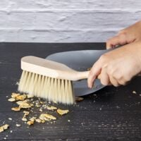 Traditional Dustpan & Brush Set   M&W - Silver