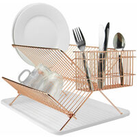 Folding Wire Drainer Rose Gold | M&W - Rose Gold