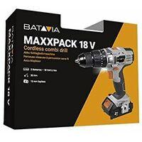 Batavia Maxxpack Collection 18V Cordless Combi Drill Set (Including 2 Batteries)