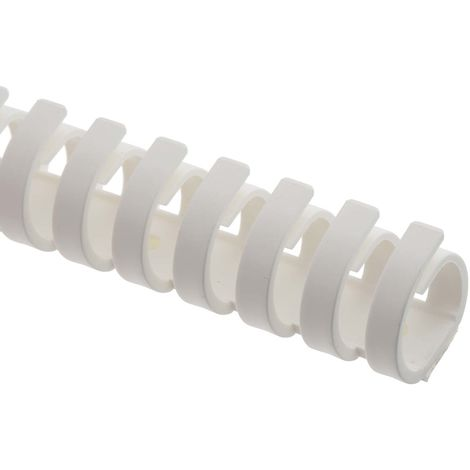 Goulotte de câblage, Blanc en Plastique, Flexible, 20 mm x 20mm 500mm