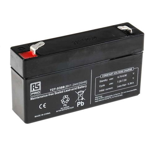 Batterie au plomb RS PRO 1.2Ah, 6V