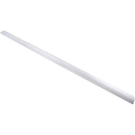 Moulures auto-adhésives Gris en Alliage d'aluminium (couvercle), PVC (base), 50 mm x 9,8mm 1m