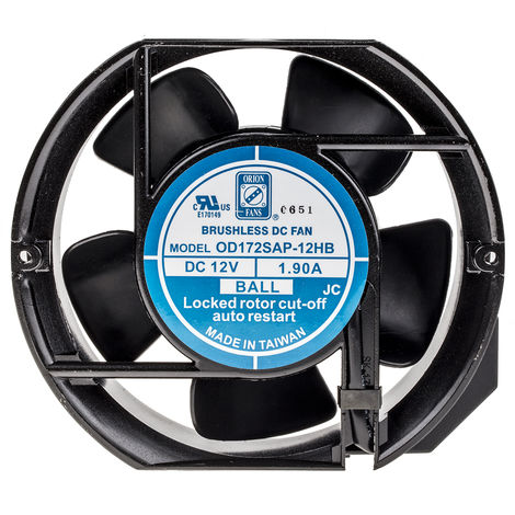 Ventilateur axial RS PRO 12 V c.c., 172 x 51mm, 230cfm, 5W, Dia. 172mm
