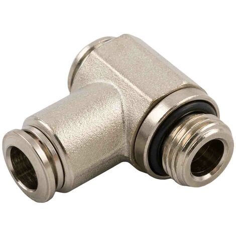 Adaptateur pneumatique tube fileté Banjo 6 mm Push-in Tube, 20bar