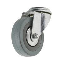 Roulette Pivotante, Dimensions 75mm x 21mm, 70kg Caoutchouc