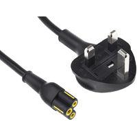 Câble d'alimentation, Noir, Connecteur VNUK13A3 vers VNC5S, 250 V / 2,5 A, 10 A, 1m Auto-extinguible