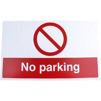 """Etiquette, avec pictogramme : Pas de stationnement """"No Parking"""""""