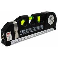 Livella laser misuratore linee multifunzione puntatore con metro a nastro 250cm