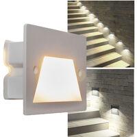 Faretto segnapassi IP65 LED 3W incasso scatola 503 scale giardino viale gradini Luce 6000K Colore Grigio