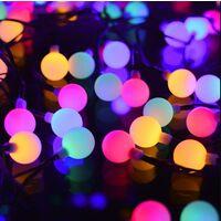 Fiabe solari, 100 luci a stringa colorate per interni ed esterni IP65 impermeabili 8 modalità, luci a sfera USB graziosa decorazione per Natale, festa, giardino, terrazza, balcone
